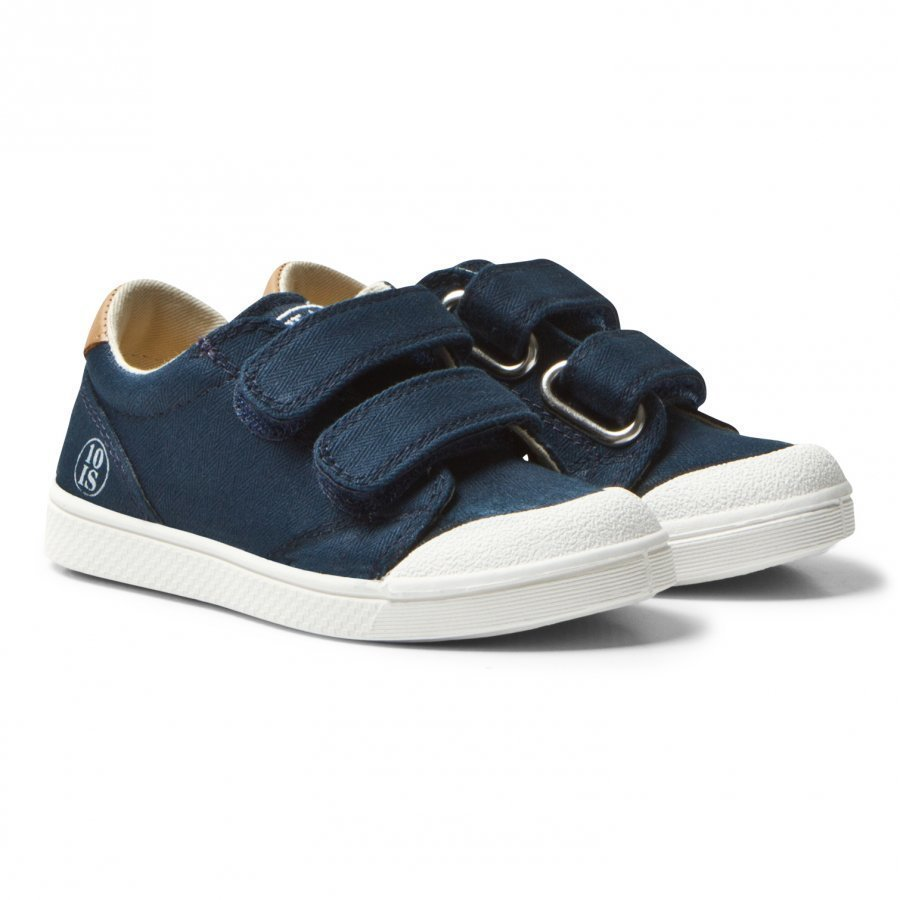 10-Is Navy Chevron Ten V 2 Velcro Shoes Lenkkarit