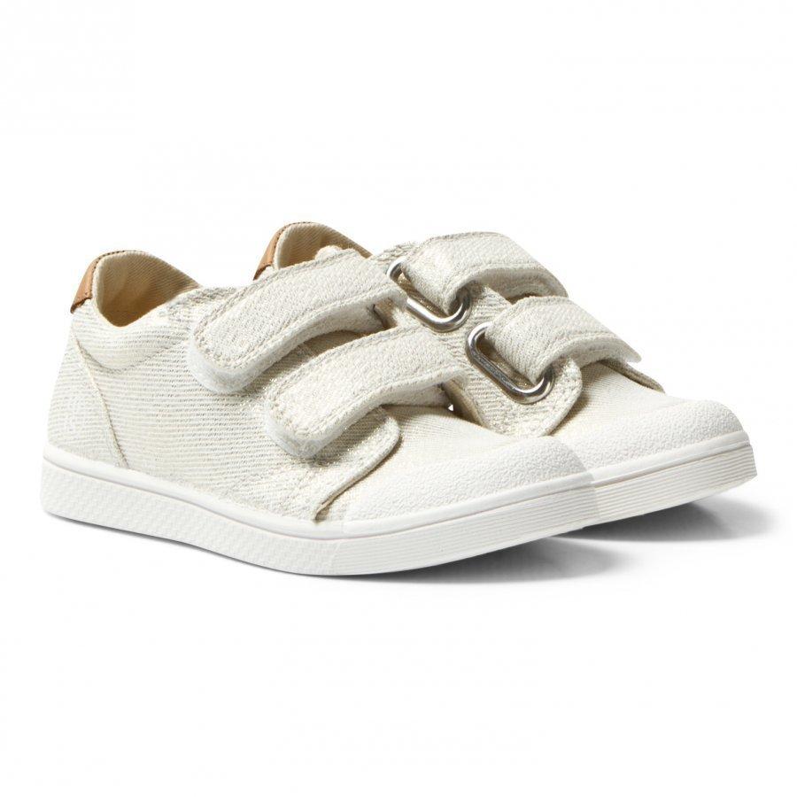 10-Is White Gold Shine Ten V 2 Velcro Shoes Lenkkarit