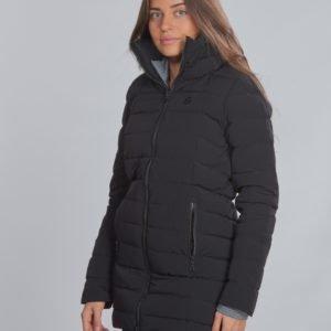 8848 Altitude Velvet Jr Coat Takki Musta