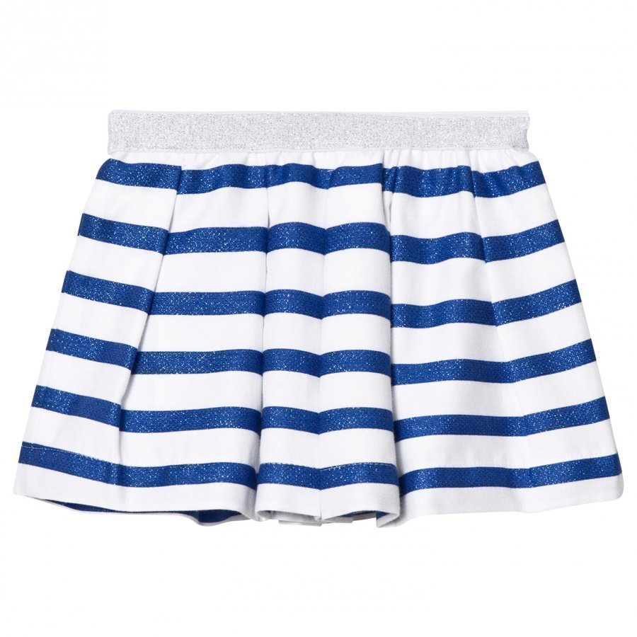 Absorba Blue Glitter And White Stripe Skirt Lyhyt Hame