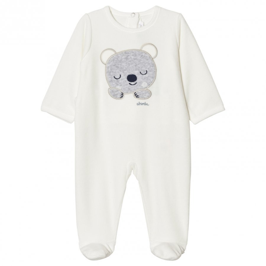 Absorba Cream Bear Footed Baby Body