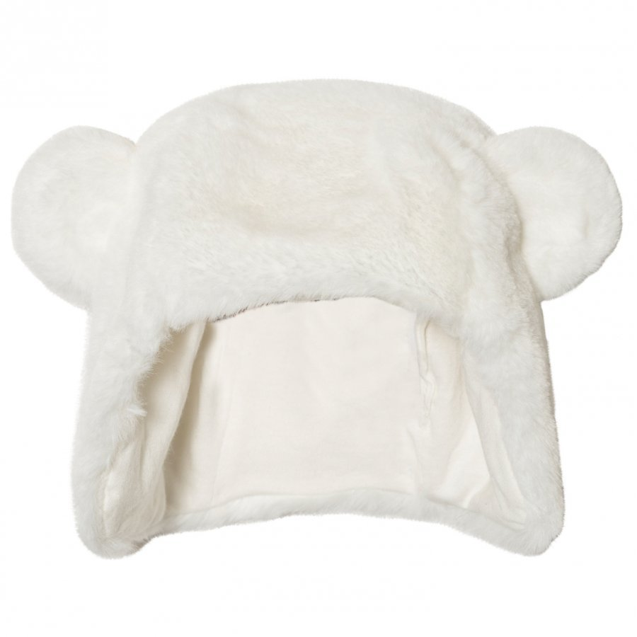 Absorba Cream Faux Fur Eared Hat Korvalapullinen Päähine