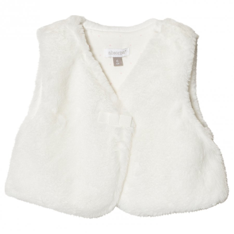 Absorba Cream Faux Fur Gilet Toppaliivi