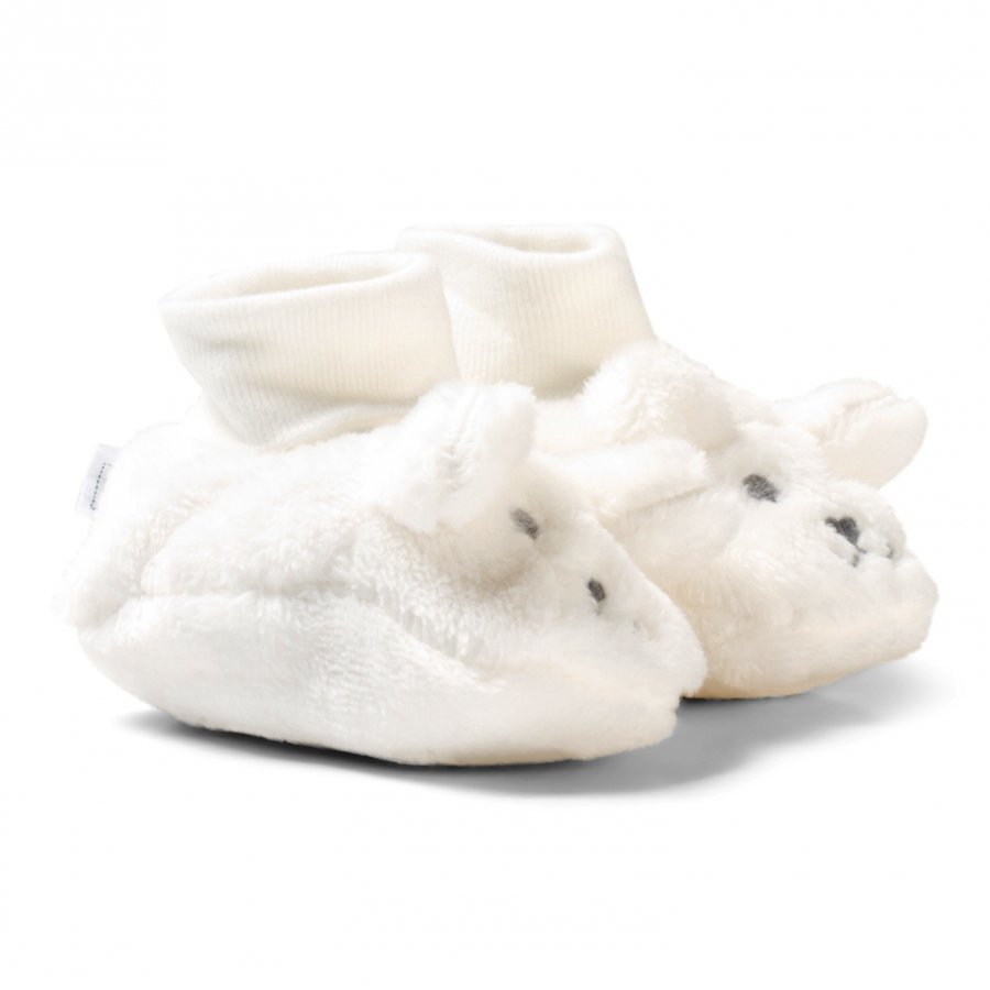 Absorba Cream Furry Face Booties Vauvan Tossut