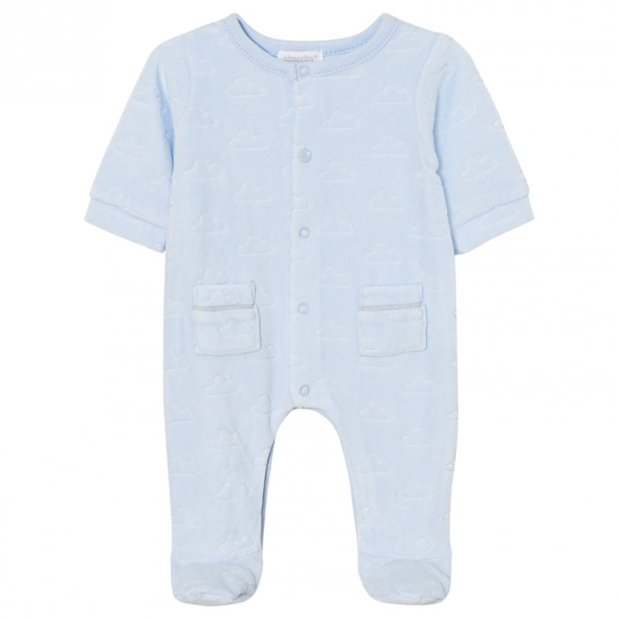 Absorba Footed Baby Body Pale Blue Cloud Velour Body