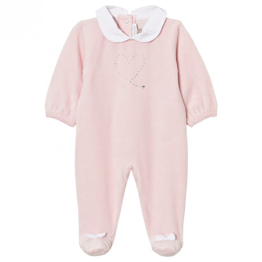 Absorba Footed Baby Body Pink Swarovski Velour Body