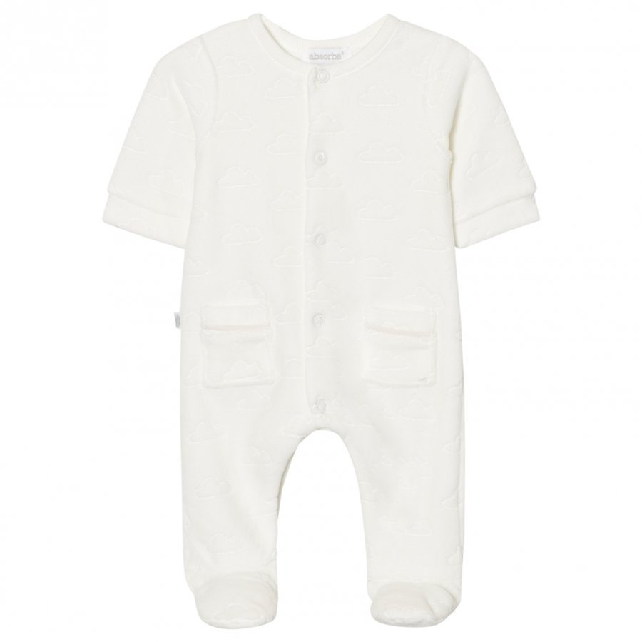 Absorba Footed Baby Body White Cloud Velour Body
