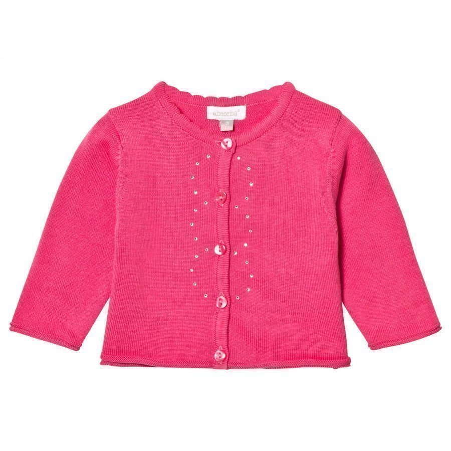 Absorba Fuchsia Knit Cardigan With Diamante Detail Neuletakki