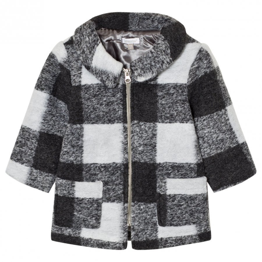 Absorba Grey Check Coat Duffelitakki