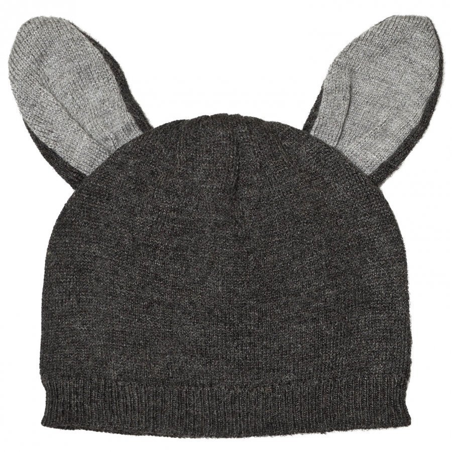 Absorba Grey Knit Beanie With Ears Pipo