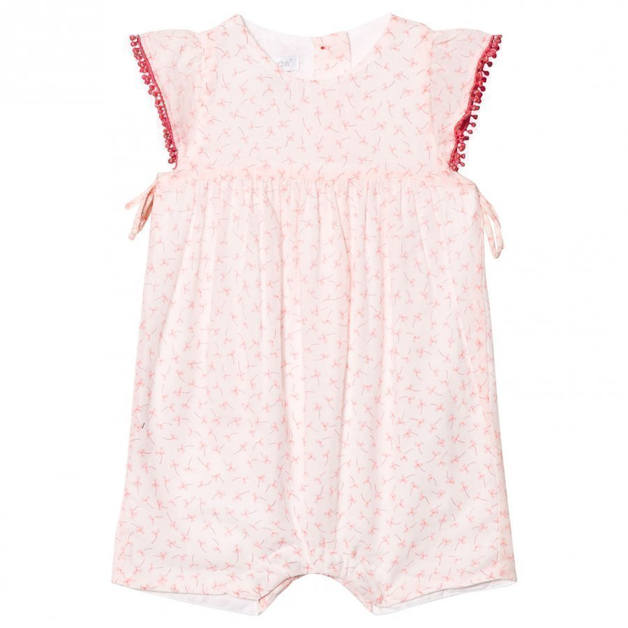 Absorba Light Pink Flower Print Romper Juhlamekko