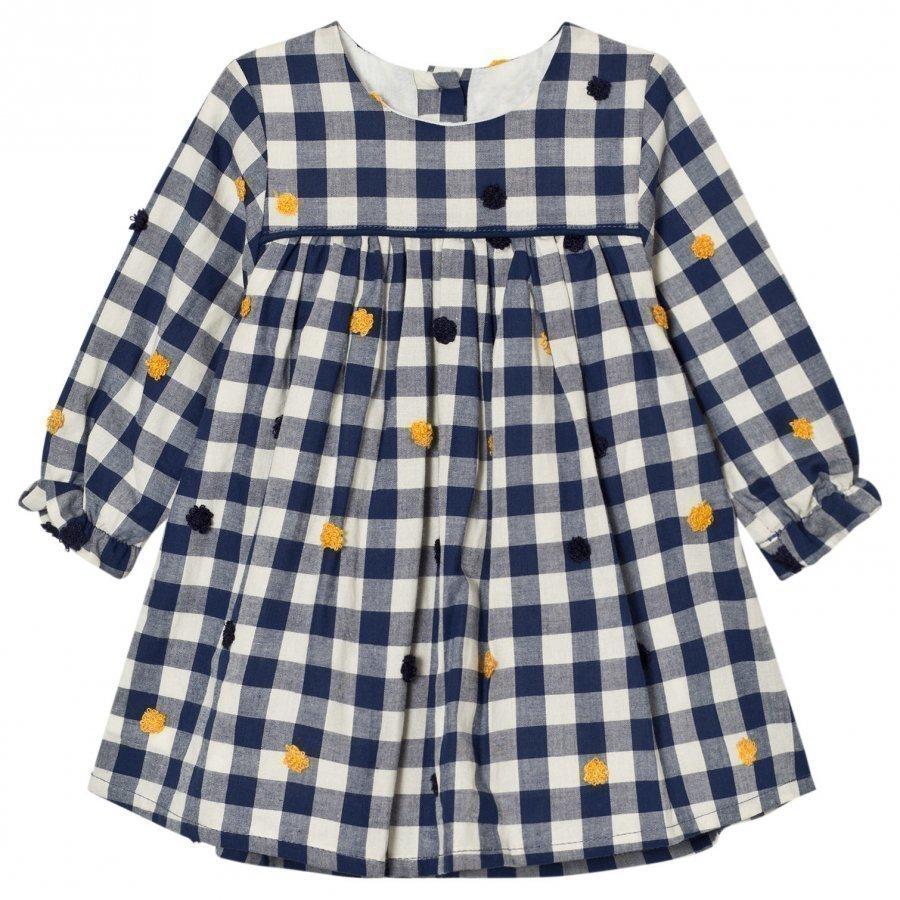 Absorba Navy Check Dress Mekko
