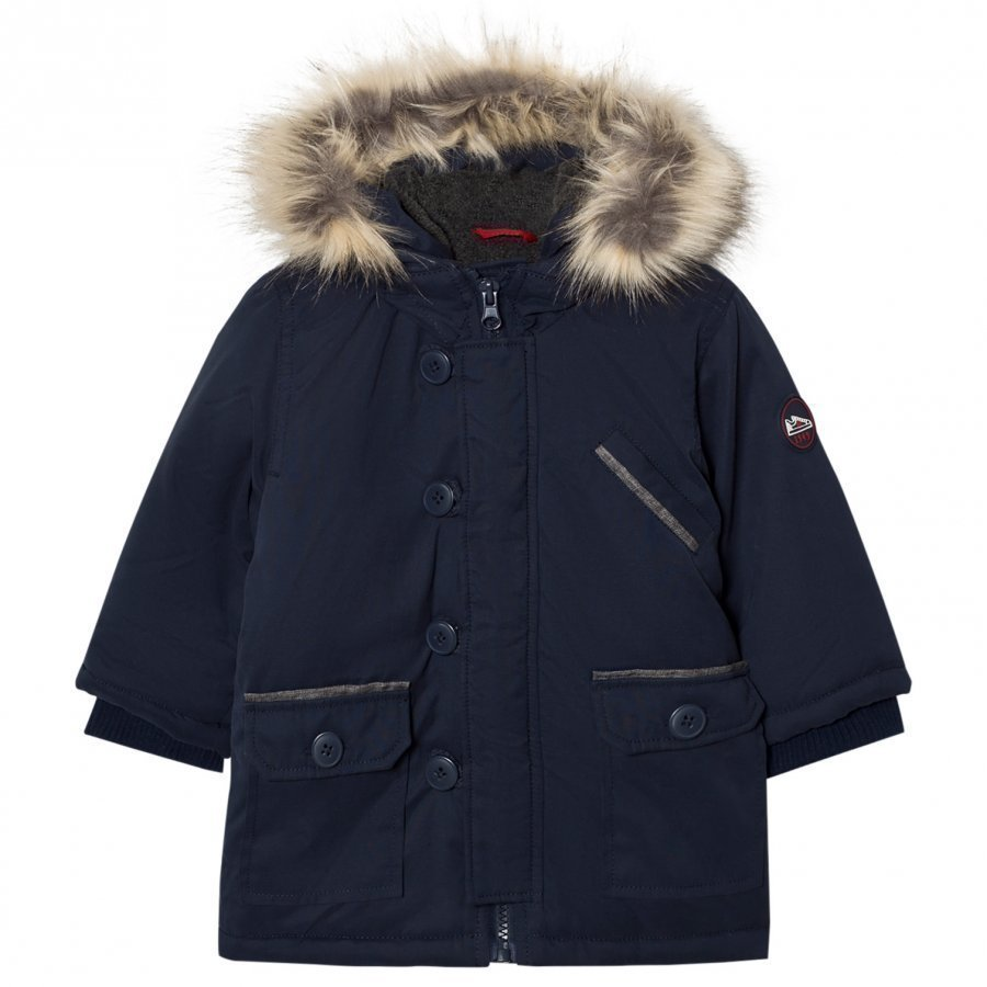 Absorba Navy Padded Hooded Coat Talvitakki
