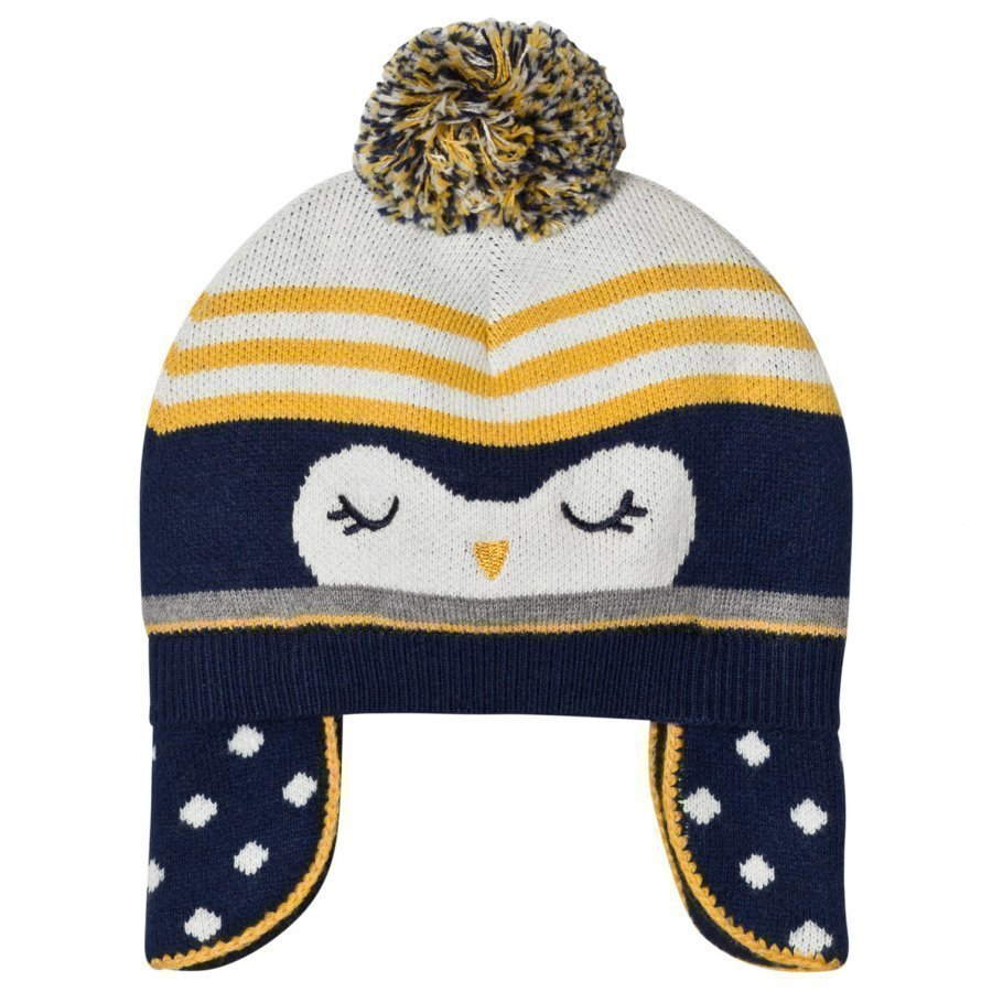 Absorba Navy Penguin Knit Bobble Hat Pipo
