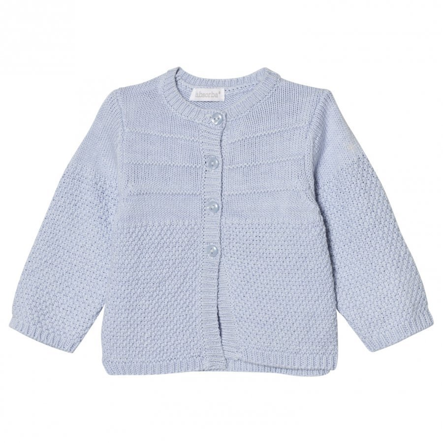 Absorba Pale Blue Cashmere-Cotton Textured Knit Cardigan Neuletakki