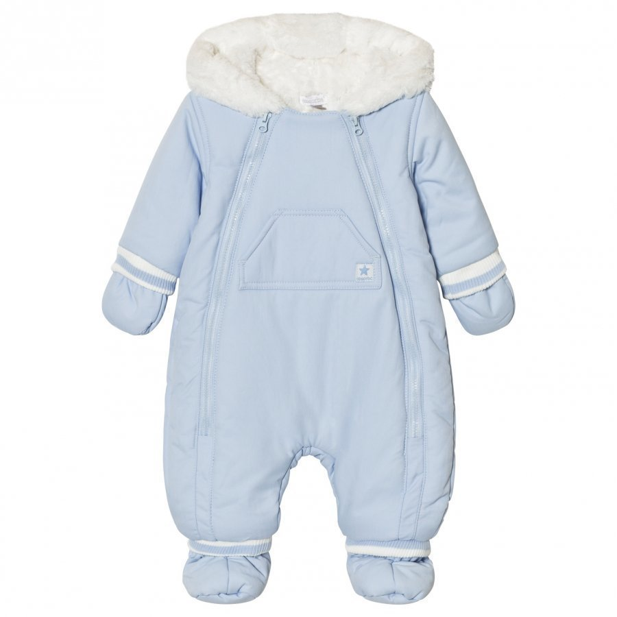 Absorba Pale Blue Fleece Lined Coverall Toppahaalari