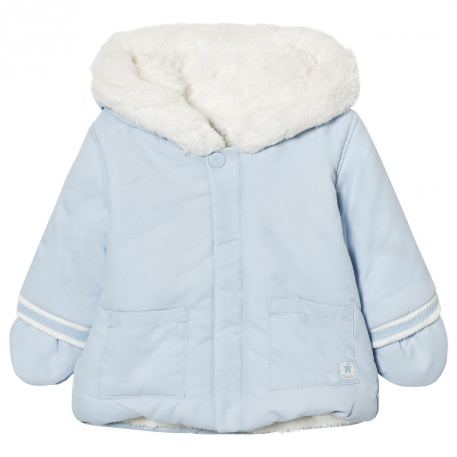Absorba Pale Blue Lined Hooded Jacket Fleece Takki