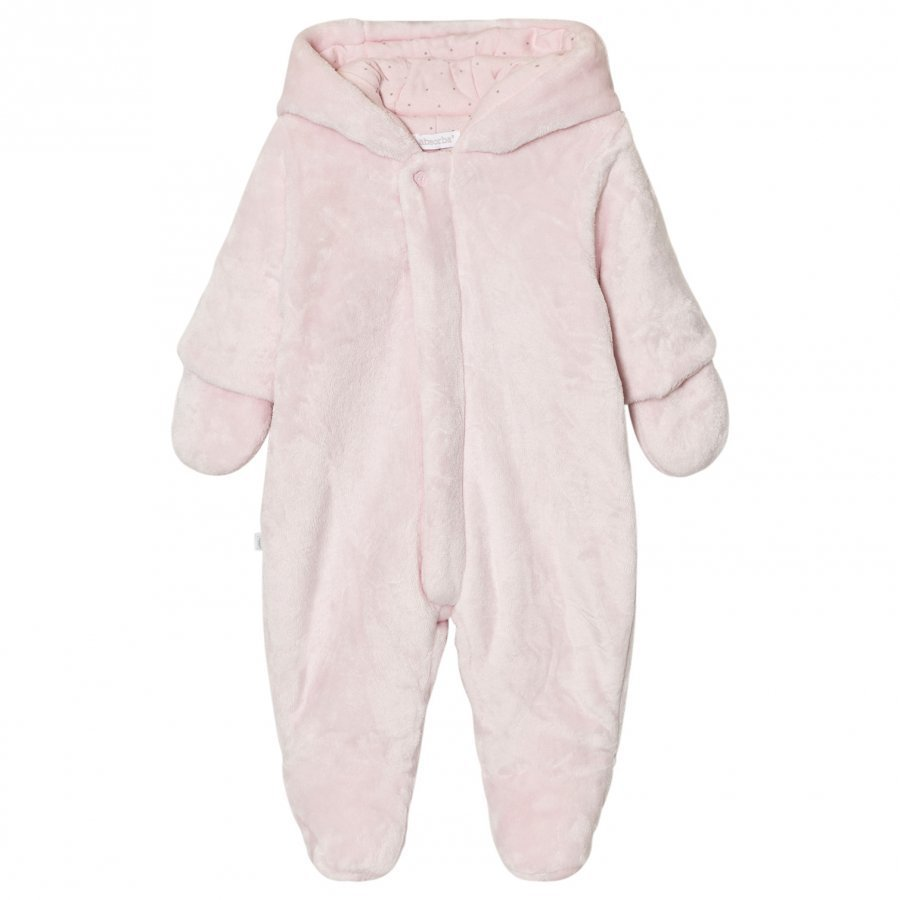 Absorba Pale Pink Teddy Fleece Coverall Kokopuku