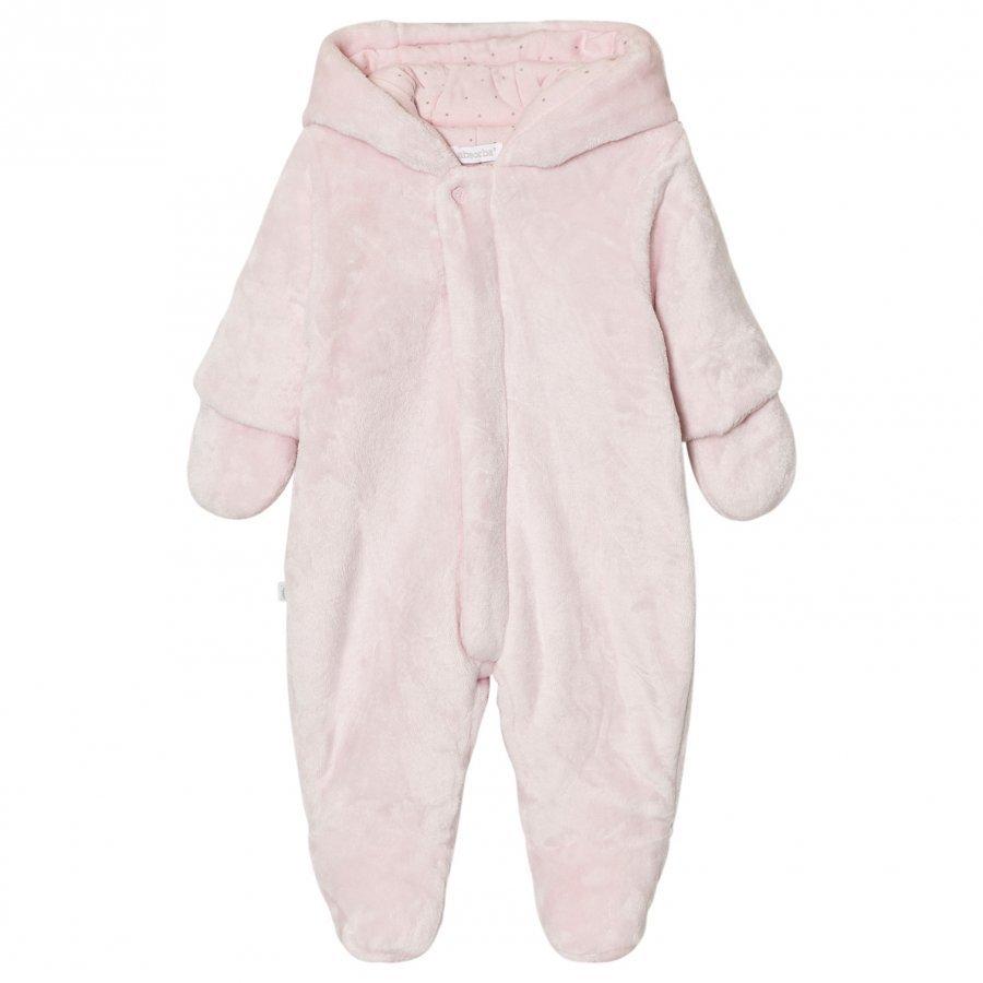 Absorba Pale Pink Teddy Fleece Coverall Kokopuku