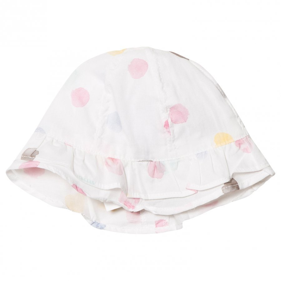 Absorba White Multi Spot Hat Aurinkohattu
