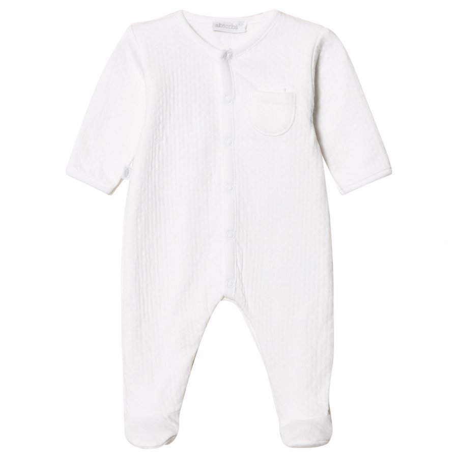 Absorba White Textured Jersey Babygrow Body