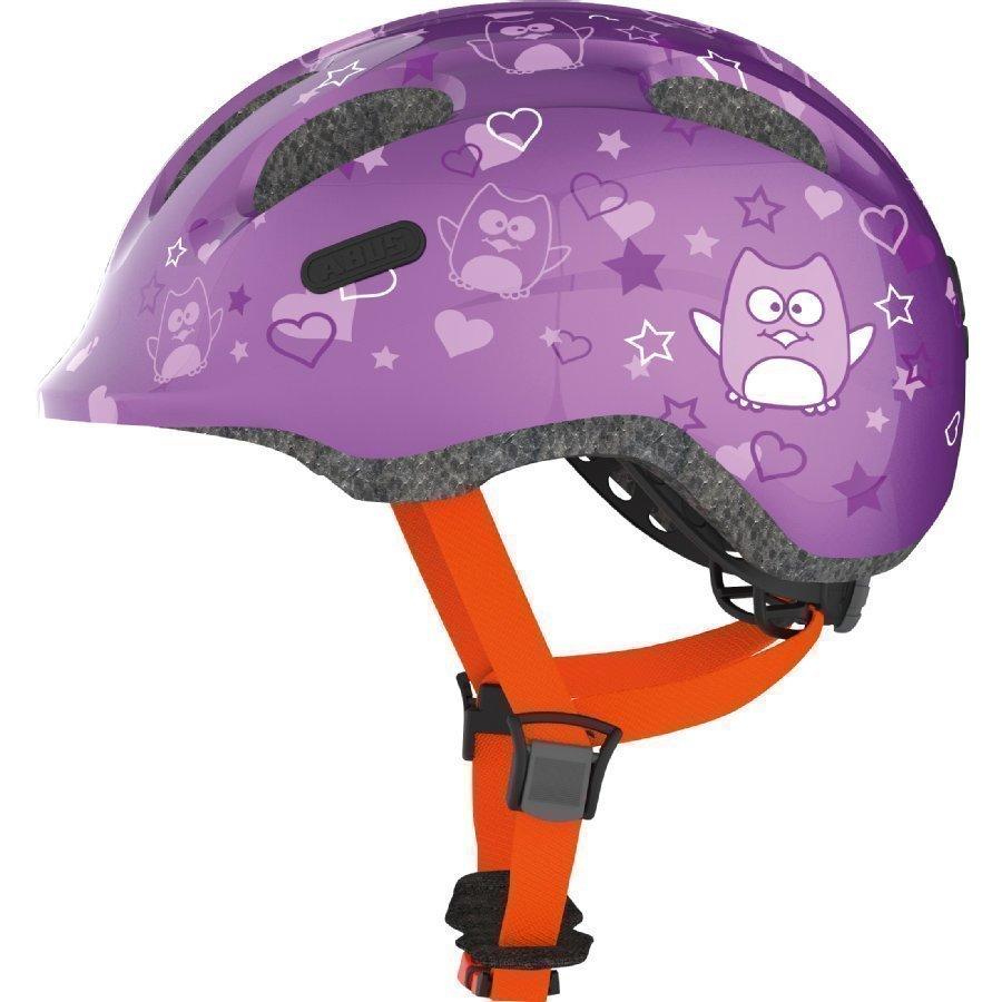Abus Bundle Smiley 2.0 Lasten Pyöräilykypärä M + Sadesuoja Purple Star