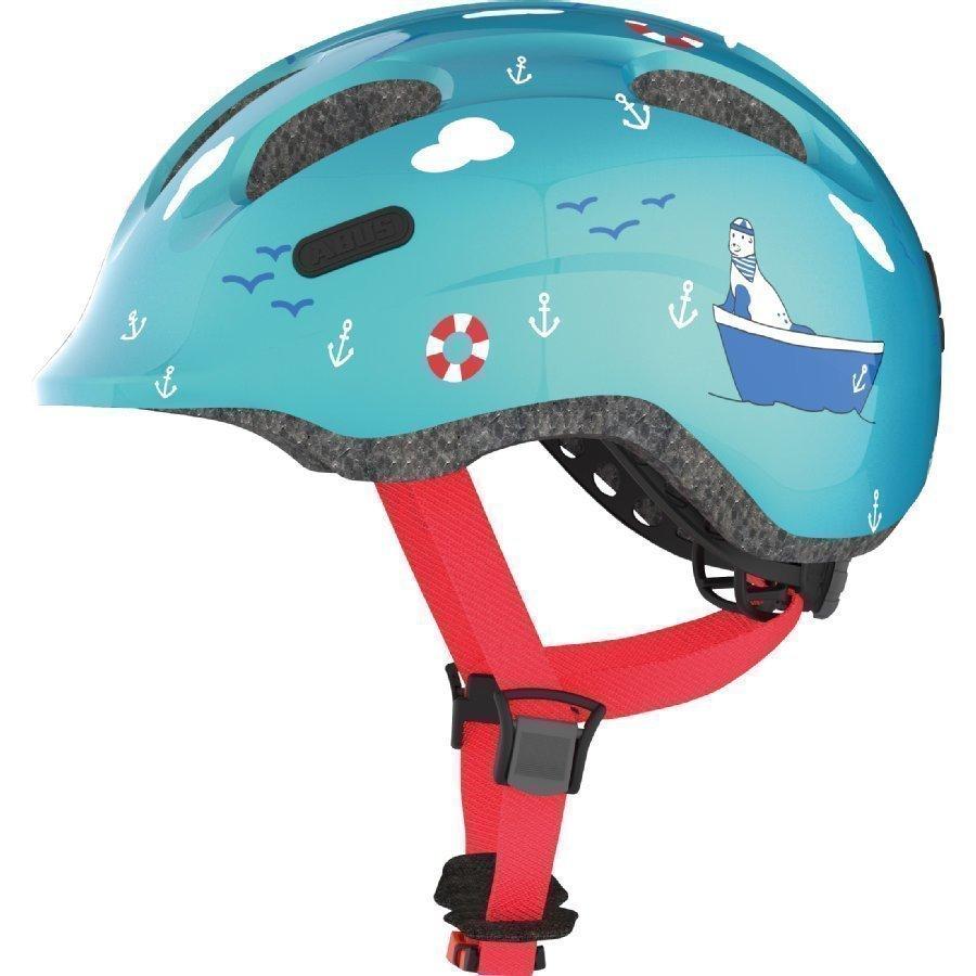 Abus Bundle Smiley 2.0 Lasten Pyöräilykypärä M + Sadesuoja Turquoise Sailor