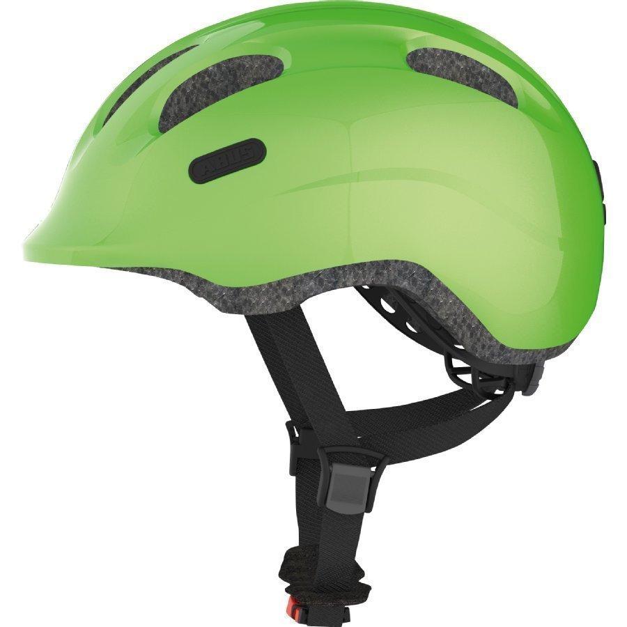 Abus Bundle Smiley 2.0 Lasten Pyöräilykypärä S + Sadesuoja Sparkling Green