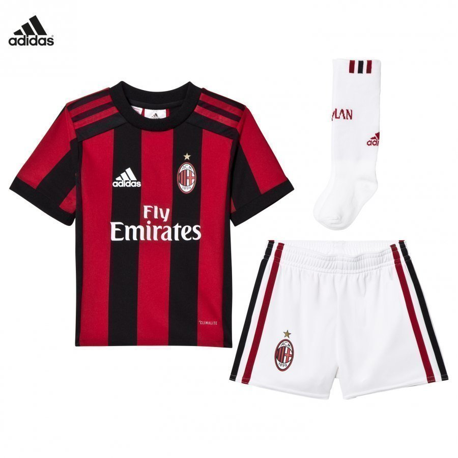 Ac Milan ´17 Kids Home Kit Jalkapalloasu