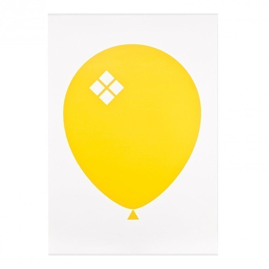 Acne Jr Balloon Ilmapallo Juliste Keltainen Juliste