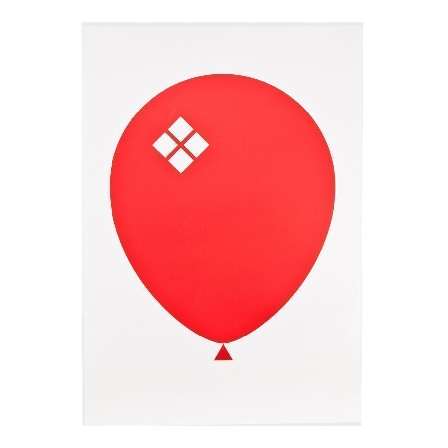 Acne Jr Balloon Ilmapallo Juliste Punainen Juliste
