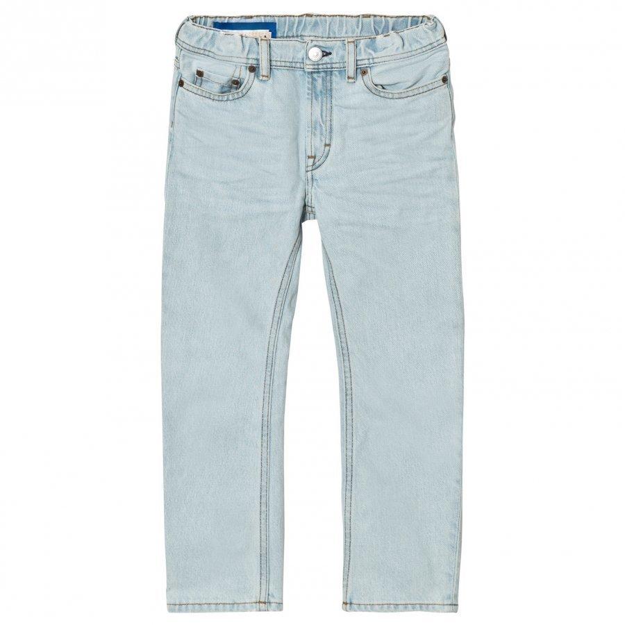 Acne Studios Bear Washed-Style Light Blue Jeans Farkut