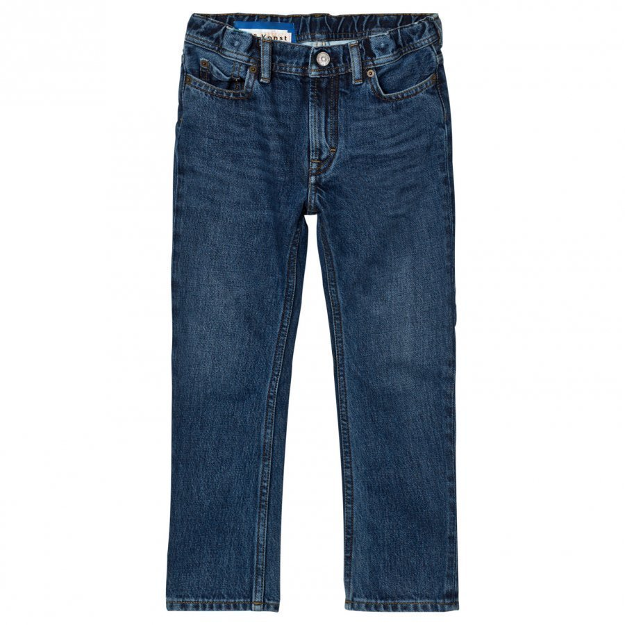 Acne Studios Bear Washed-Style Mid Blue Jeansblue Farkut