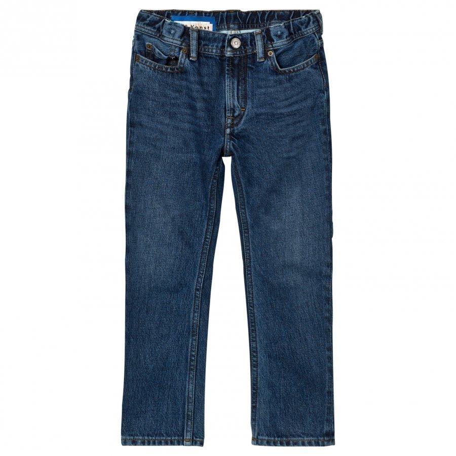 Acne Studios Bear Washed-Style Mid Blue Jeansblue Farkut