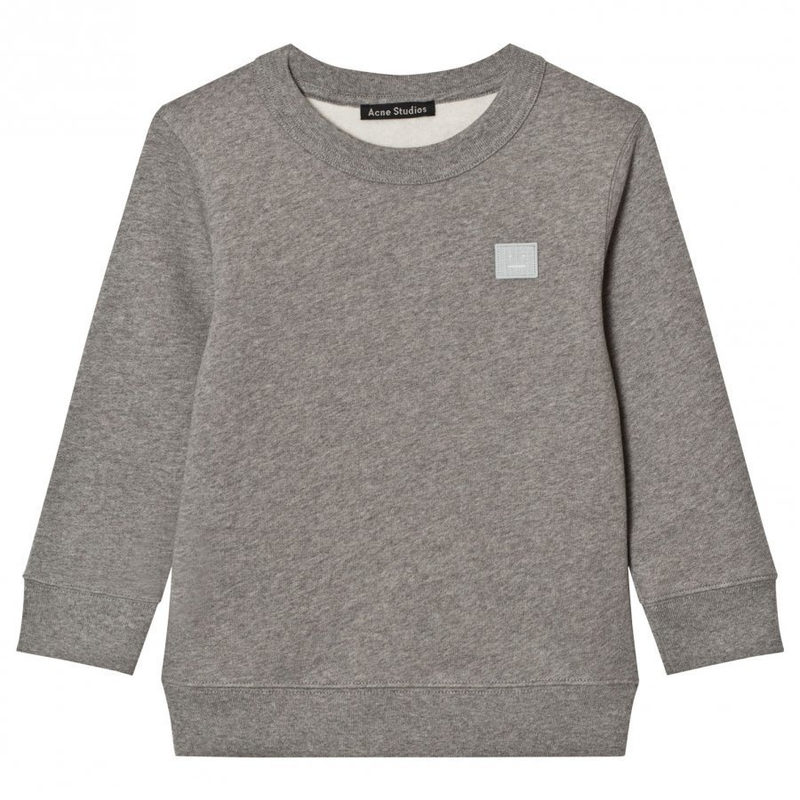 Acne Studios Mini Fairview Face Sweatshirt Gray Oloasun Paita