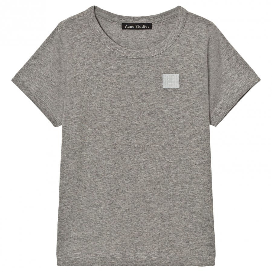 Acne Studios Mini Nash Face Light Grey Melange Short Tee T-Paita