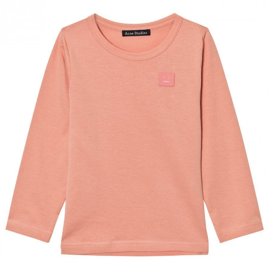 Acne Studios Mini Nash Face Pale Pink Long Tee Pitkähihainen T-Paita