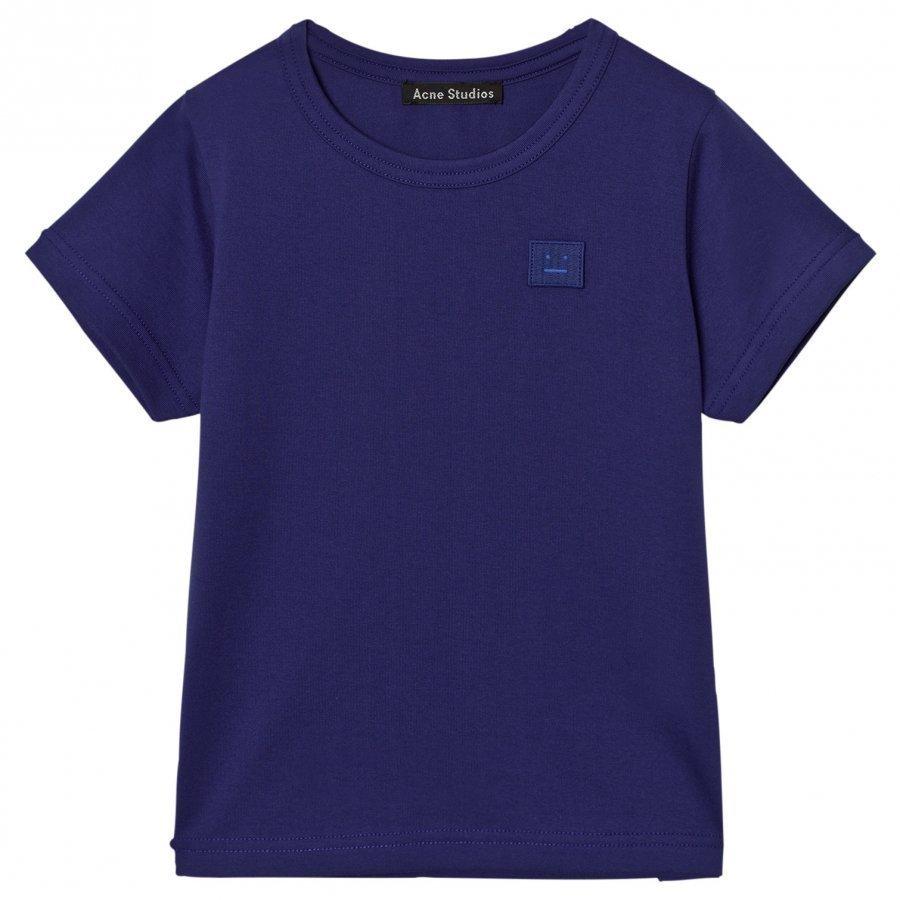 Acne Studios Mini Nash Face Royal Blue Short Tee T-Paita
