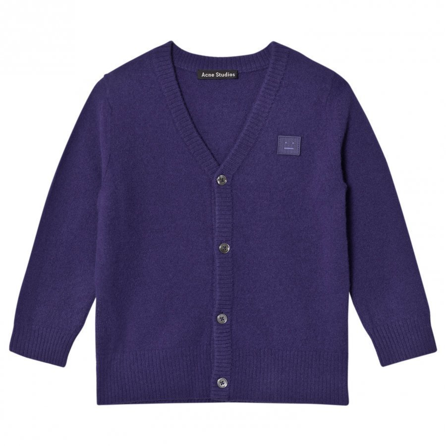 Acne Studios Mini Neve Cardigan Royal Blue Neuletakki