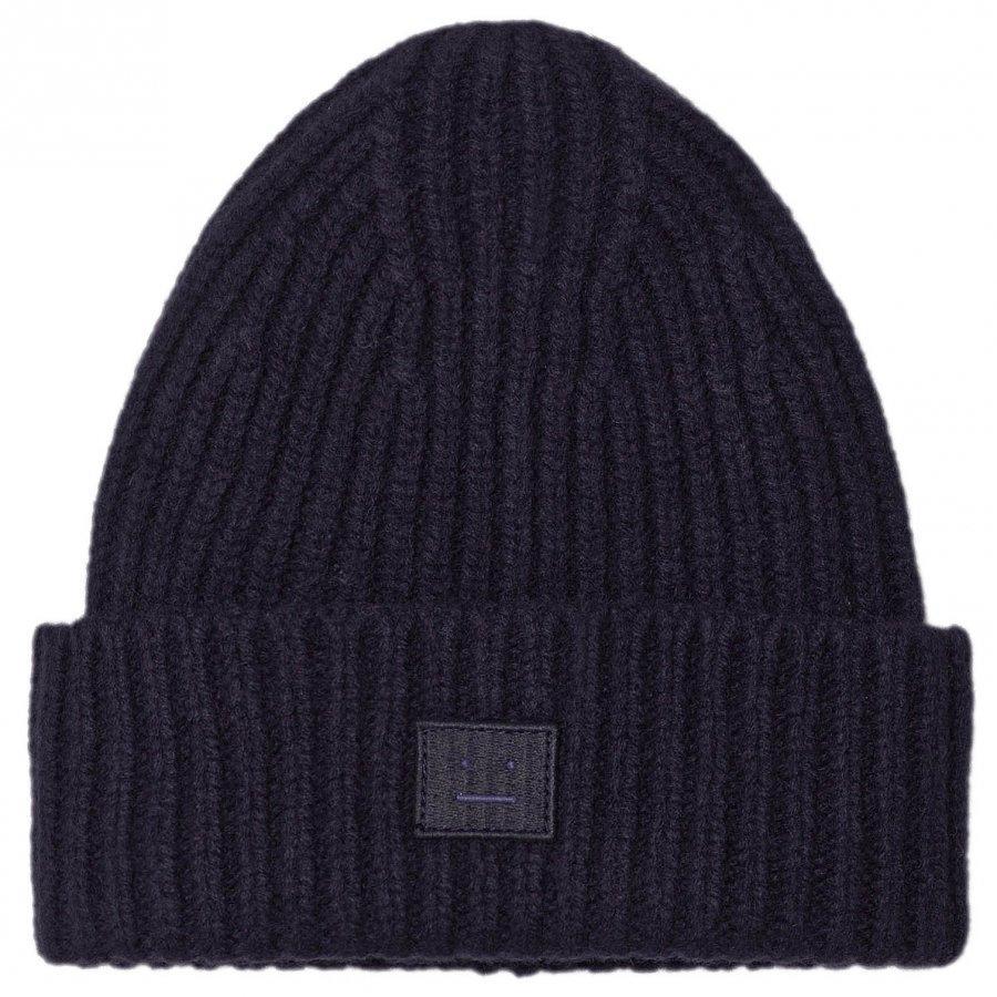 Acne Studios Wool Hat Mini Pansy Navy Pipo