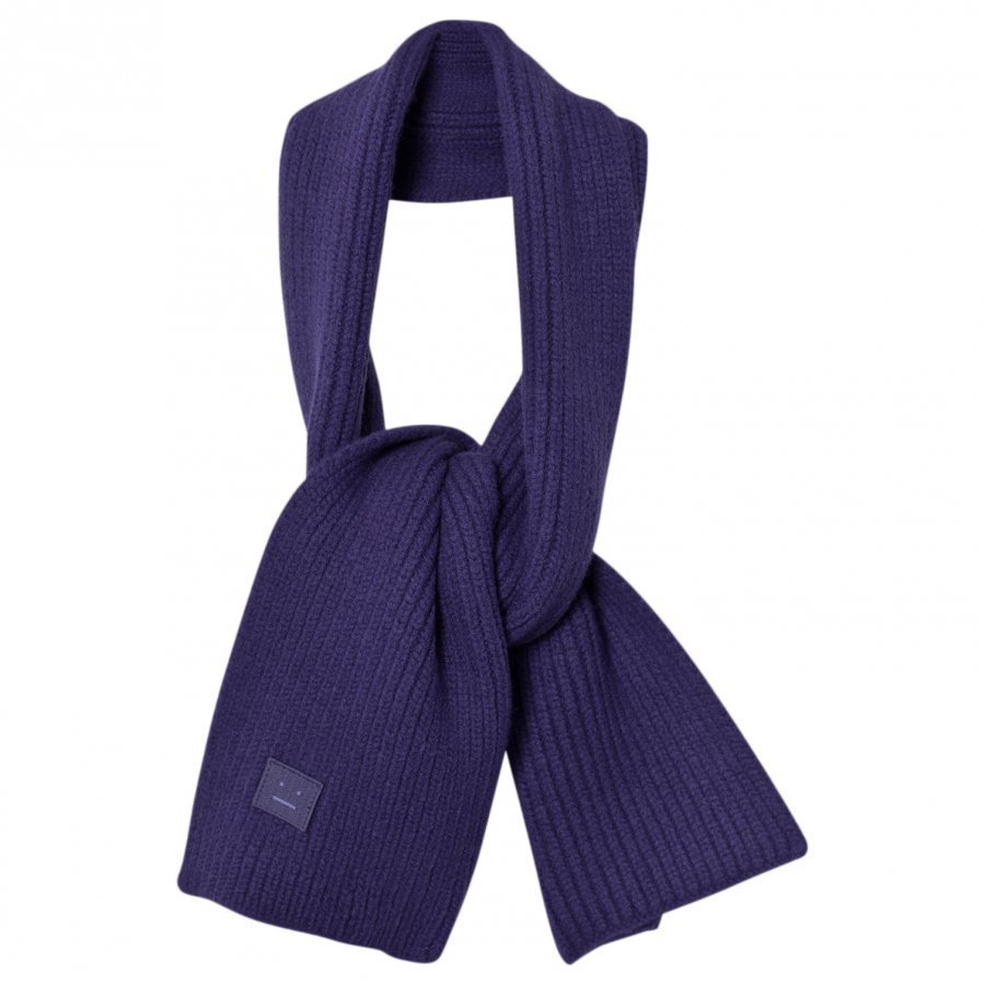 Acne Studios Wool Mini Bansy Scarf Royal Blue Villahuivi