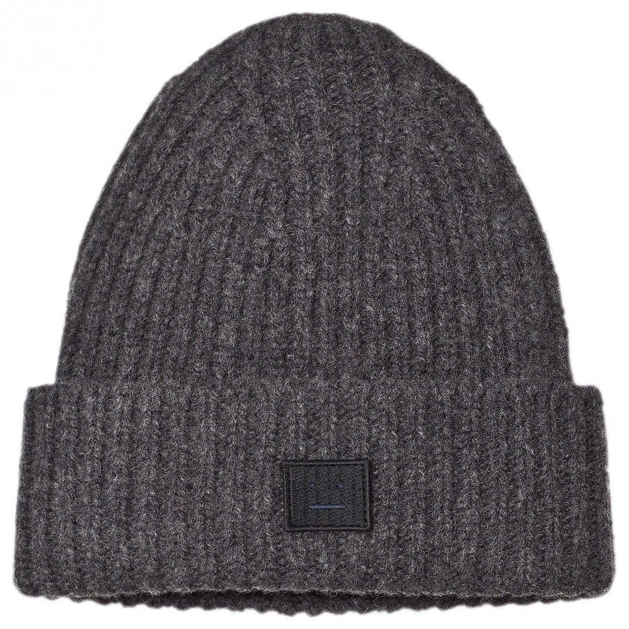 Acne Studios Wool Mini Pansy Hat Charcoal Melange Pipo