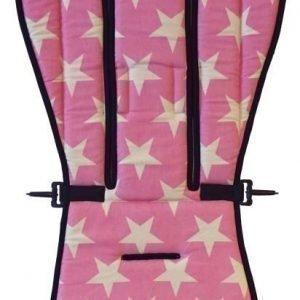 AddBaby Lastenvaunujen istuinpehmuste Stars Pink