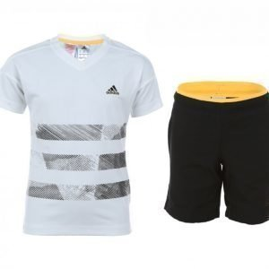 Adidas Adiboy Id Set Junior Treenisetti Valkoinen / Musta