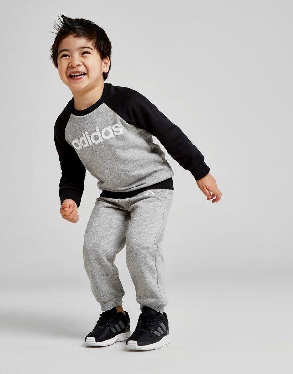 Adidas Badge Of Sport Crew Suit Infant Harmaa