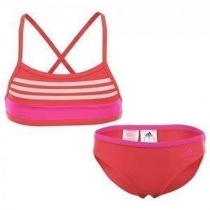 Adidas Basic Stripe Bikini Jr Bikinisetti Roosa