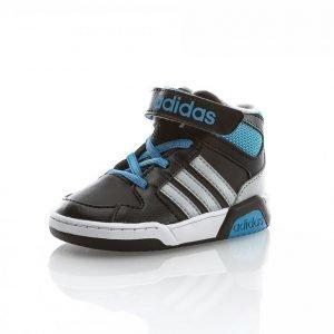 Adidas Basketstar Infant Korkeavartiset Tennarit Musta / Sininen