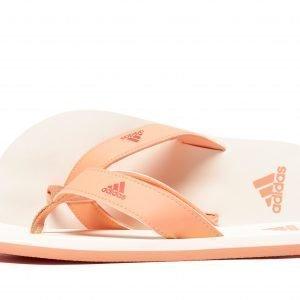 Adidas Beach Thong Flip Flops Coral / Off-White