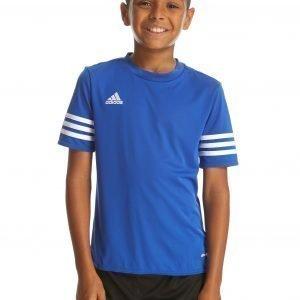 Adidas Entrada T-Paita Cobalt Blue / White