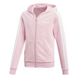 Adidas Essentials 3s Full Zip Huppari Nuorten Pinkki